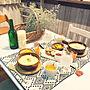 女性26歳の家族暮らし、ニトリ2017秋冬食器モニターキッチンや食器やランチョンマットやニトリなどに関するemiri0403さんの実例写真
