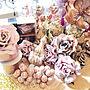 家族暮らし3LDK、ピンク×ゴールドMy Deskやハルモニアやピンク×ゴールドやクリスマスオーナメントなどに関するLOTTAさんの実例写真
