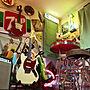 男性31歳の家族暮らし、バースツールOverviewやギターやレトロやギター部屋などに関するtomson330さんの実例写真