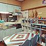 女性36歳の家族暮らし2LDK、ちょっとだけ模様替えキッチンやダイソーやカラーボックスや収納などに関するR.R-Tさんの実例写真