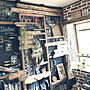 男性23歳の一人暮らし1LDK、ビンテージワックスMy Shelfや観葉植物や収納やブラウンなどに関するNoahさんの実例写真