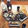 女性45歳の家族暮らし4LDK、黒い食器after写真②や焼酎サーバーやニトリさんありがとうございますや黒い食器などに関するcaolinpanさんの実例写真