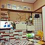 女性35歳の家族暮らし2LDK、再利用リビングやダイソーやカラーボックスや100円均一などに関するR.R-Tさんの実例写真