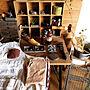 女性家族暮らし3LDK、アメブロ→peanuts-village机やアンティークや古道具やカフェ風などに関するPeanutVillageさんの実例写真
