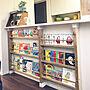 女性36歳の家族暮らし4LDK、絵本棚DIY部屋全体やDIY棚やディアウォールやショーケースDIYなどに関するkirinchanさんの実例写真