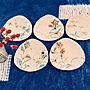 女性家族暮らし3LDK、手作りランチョンマット食器やダイニングや豆皿やシンプルライフなどに関するsuzurinhomeさんの実例写真