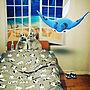 女性その他、ウサギのいる暮らし3/14/17-Bedroomやリカべ(Re壁)やニトリや犬のいた暮らしなどに関するhidemomさんの実例写真