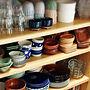 女性家族暮らし、食器棚の中キッチンや食器や食器棚やカフェ風などに関するhanaさんの実例写真