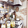 女性42歳の家族暮らし2DK、果実酒Kitchenや無印良品やダイソーやナチュラルなどに関するemiさんの実例写真