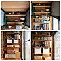 女性家族暮らし4LDK、砂壁ペイントMy Shelfや稼働棚や板壁やセルフリフォームなどに関するhashimaさんの実例写真