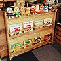女性家族暮らし3LDK、木製棚棚やDJブースやDIYや絵本棚などに関するJuriさんの実例写真
