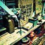Entrance/アンティーク/古道具/ガレージ/ヴィンテージ/ミリタリーに関連する部屋のインテリア実例