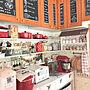 Kitchen/カフェ風/ニトリ/ガーランド/seria/FAKEGREEN/cotta/アラジントースター/タイルDIY/ダイソー♡/キャンドゥ☆/3コインズ♡に関連する部屋のインテリア実例