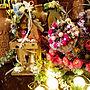 Entrance/ハンドメイド/デコパージュ/ウェディングアイテム/造花アレンジ/いいね、フォロー本当に感謝です♡/かごブーケ/色々したい!/ほぼ100均の造花/春まで楽しみます(笑)に関連する部屋のインテリア実例