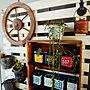 My Shelf/ダイソー/ガーデニング/DIY/多肉植物/ニトリ/セリア/賃貸住宅/100均雑貨/さび塗装/すのこで木箱/車輪オブジェに関連する部屋のインテリア実例