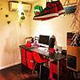 Lounge/照明/間接照明/家電/モダン/ボビーワゴン/ハーマンミラー/Algue/赤色/AIR JORDAN/白色/ストックストーに関連する部屋のインテリア実例