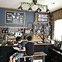 Lounge/カウンター/100均/DIY/勉強中/100均リメイク/壁紙屋本舗/いつもいいねありがとうございます♡/男前インテリア/インスタ→and_a_plus/ブラウンインテリアに関連する部屋のインテリア実例