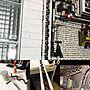 My Desk/100均/DIY/Daiso/爪楊枝/ガス管/和室を改造/塩ビパイプ/塩ビ管/塩ビパイプDIY/ファイヤーエスケープ/極楽部屋/壁マニアに関連する部屋のインテリア実例