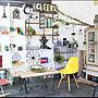 Overview/ナチュラル/ダイニング/雑貨/テーブル/リビング/カフェ/DIY/ウッド/DIY棚/アイアン雑貨/棚受けに関連する部屋のインテリア実例