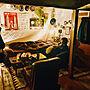 Overview/照明/ナチュラル/雑貨/DIY/レトロ/一人暮らし/カフェ風/フェイクグリーン/男前に関連する部屋のインテリア実例