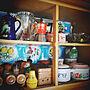 Kitchen/花柄/レトロ/ホーロー/生活感/古いもの/マキネッタ/チャリティーショップFINDに関連する部屋のインテリア実例