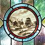 On Walls/窓/ステンドグラス/アンティーク/イギリス/アンティークステンドグラス/風景画/ポートベロに関連する部屋のインテリア実例