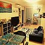 Lounge/観葉植物/無印良品/ダイソー/照明/雑貨/アンティーク/100均/ハンドメイド/DIY/レトロ/一人暮らし/カフェ風/ニトリ/セリア/キャンドゥ/フェイクグリーンに関連する部屋のインテリア実例