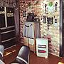 Kitchen/セリア/男前/可愛いも男前も好き♡/カフェ風に憧れて!/古い市営住宅に関連する部屋のインテリア実例
