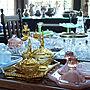 My Desk/食器/アンティーク/ガラス/ガラス雑貨/イギリス/ティーセット/シルバー/ガラス皿/アンティークフェア/銀器/ポートベロに関連する部屋のインテリア実例