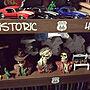 My Shelf/ハンドメイド/DIY/アメリカン/男前/製作/自己満足でごめんなさい(^◇^;)/Rat Fink♡/パーキングサイン/レプリカ製作/男の隠れ屋/いつかはビルトインガレージ/忠's ART/なんちゃって(ノ∀`笑))に関連する部屋のインテリア実例
