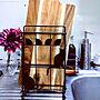 Kitchen/猫/3Coins/まな板スタンド/木製まな板に関連する部屋のインテリア実例