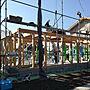 Overview/上棟/差し入れ/木造住宅に関連する部屋のインテリア実例