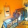 Lounge/狭い部屋/カフェ風インテリア/一人暮らしの部屋/収納上手になりたい♬/一人暮らし 女/収納家具/ワンルームインテリアに関連する部屋のインテリア実例