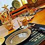 Kitchen/WTW/テーブルセッティング/カリフォルニアスタイル/海を感じる部屋/カリフォルニア風/サーファーズハウス/海が見える家/ハワイも好き/海の近くに暮らす/ハーベストキッチン/シーサイドハウスに関連する部屋のインテリア実例