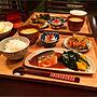 My Desk/ダイニング/ダイニングテーブル/箸置き/おうちごはん/和食/晩ごはん/無印良品のトレー/ニトリの食器に関連する部屋のインテリア実例