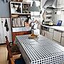 Overview/照明/unico/キャンドゥ/テーブルクロス/壁紙/おうちカフェ/壁紙屋本舗/男前もナチュラルも好きに関連する部屋のインテリア実例