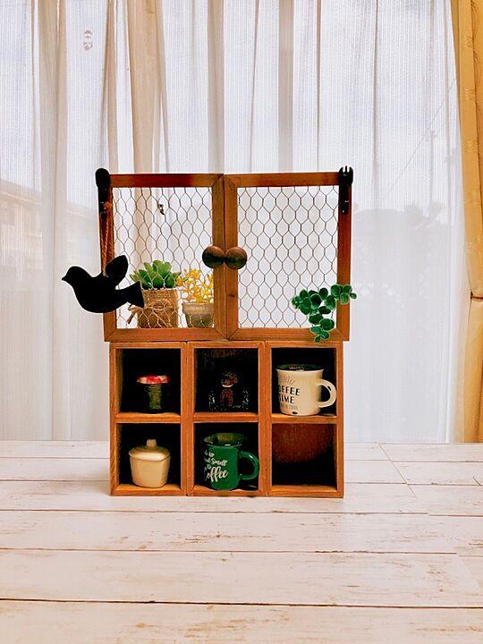 「ボンドでOK♪奥行あるディスプレイを楽しめる簡単飾り棚」 by eriharuさん