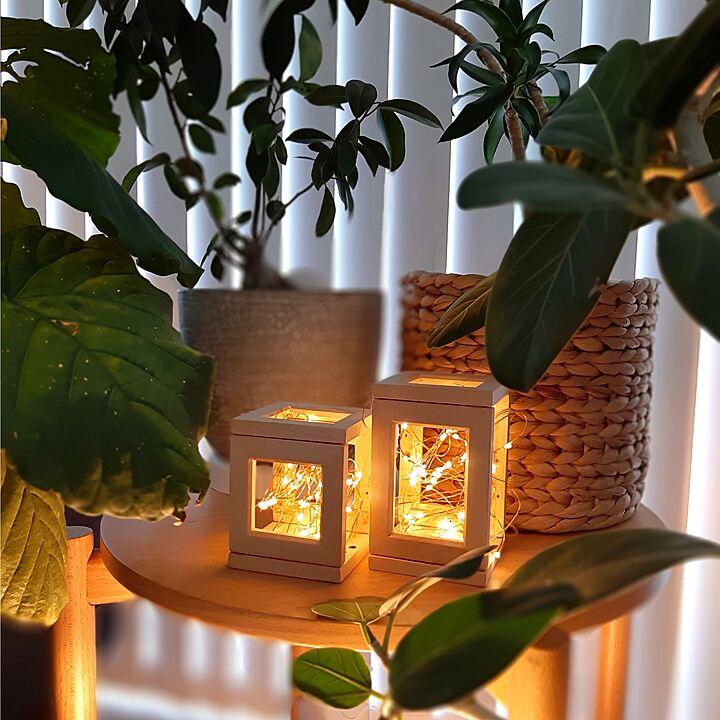 「木製フレームを接着するだけでつくれる、ジュエリーライトホルダー」 by k...さん