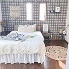 空間をデザインする♡柄で魅せるアクセントクロスのお部屋