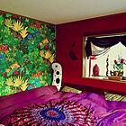 インパクトのある部屋☆色合いと柄で叶えるエスニック空間