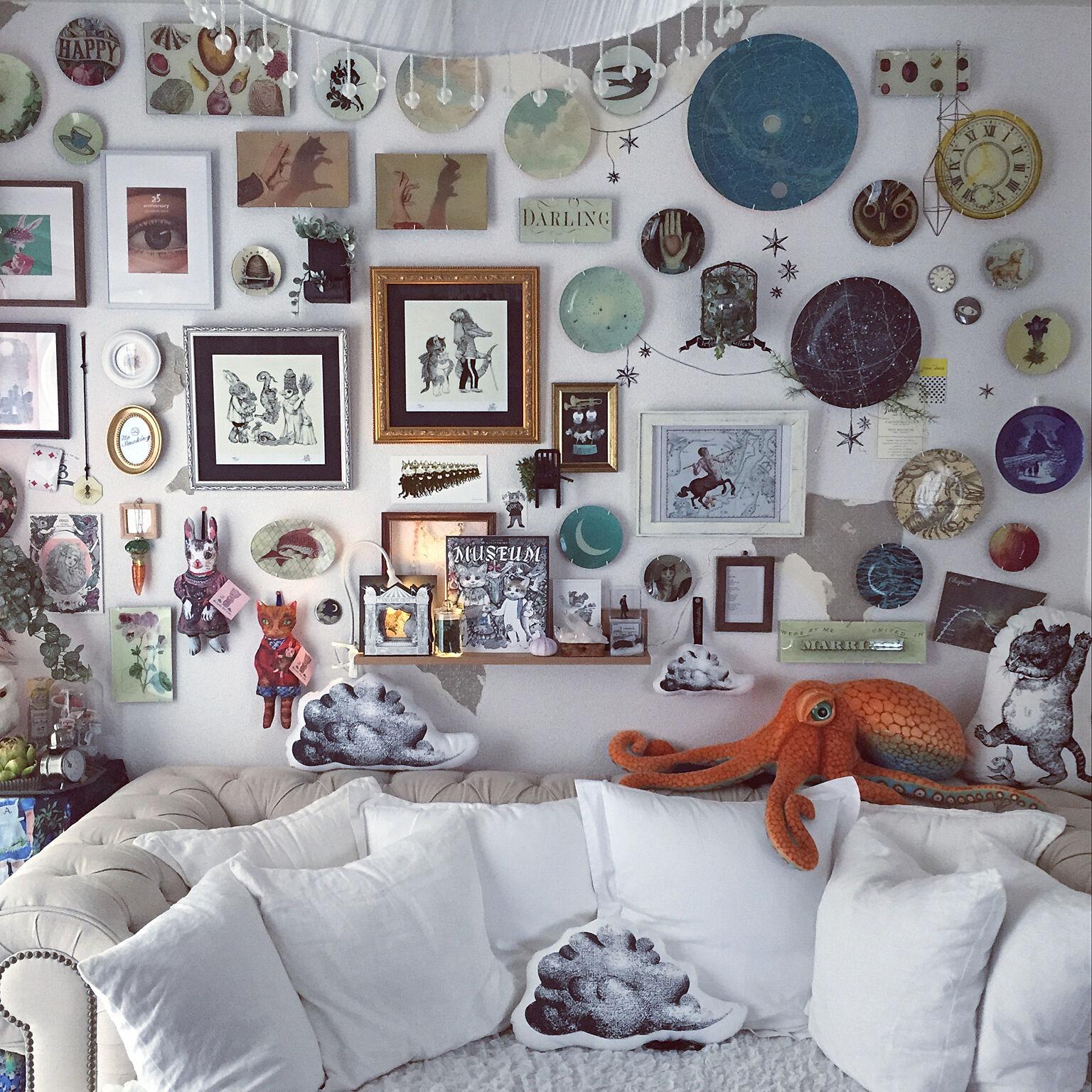 芸術を感じるハイセンスな日常空間☆アートのあるお部屋作り