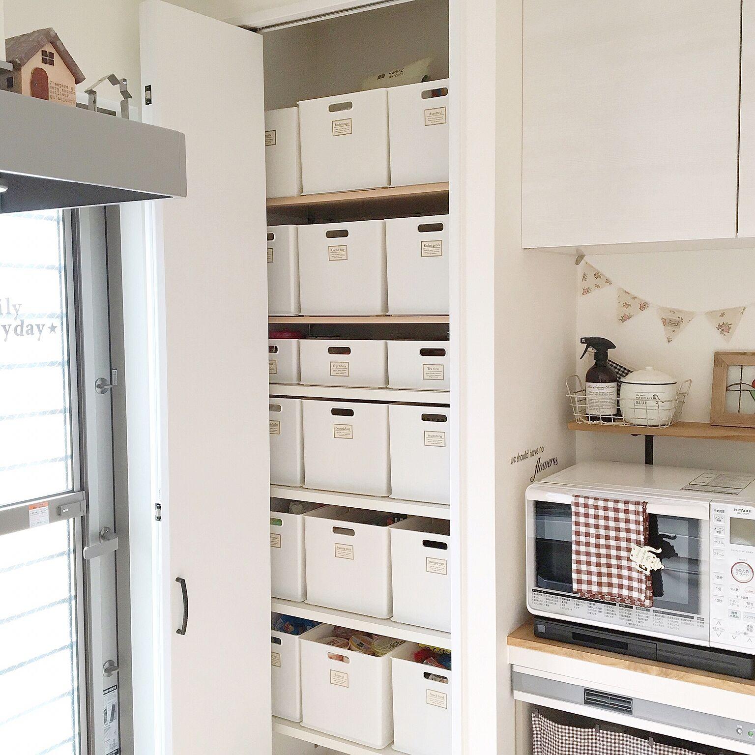 2210fc5a3f5 すっきりキッチンに!ニトリのインボックスで隠す収納 | RoomClip mag ...