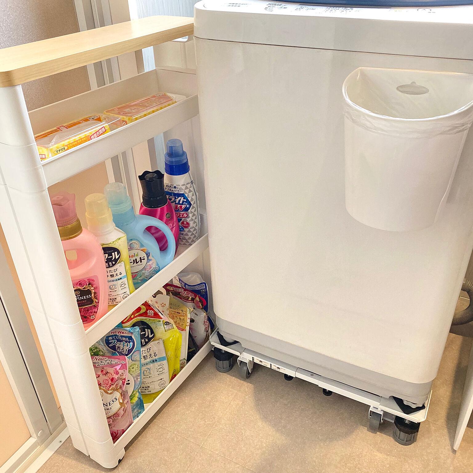 出し入れしやすく見た目もスマートに☆洗濯アイテムの収納の工夫
