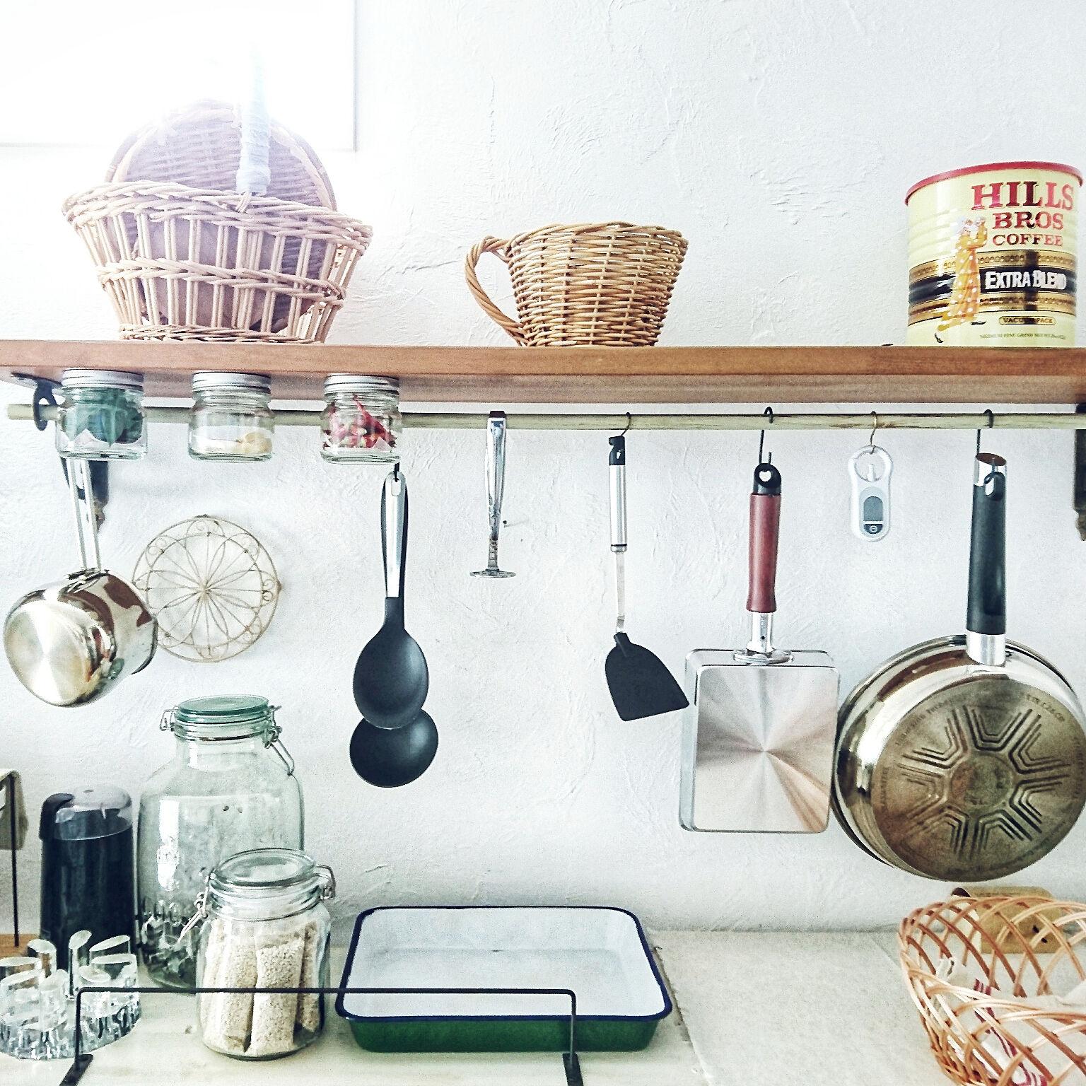 見栄えも使い勝手も妥協したくない♡キッチンの背面収納アイディア