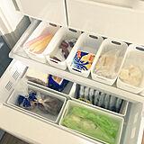 冷蔵庫でも大活躍してくれる♡プラケースを使った収納術