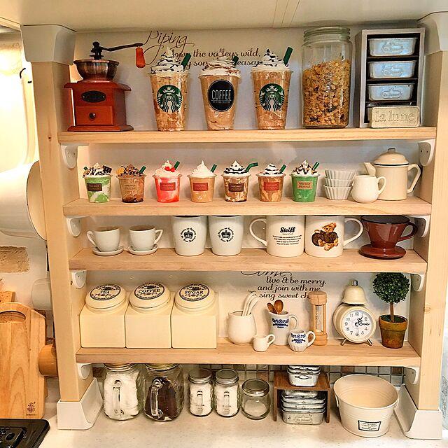Kitchen,フォロワー様ありがとうございます♥,フェイクフラペチーノ,調味料ラック,ミニチュア雑貨,ニトリ,フェイクスイーツ,セリア,Daiso,cafe,salut!,IKEA,ナチュラルインテリア,コーヒーミル,ディアウォール DIY,カフェ風,紙粘土,こどもと暮らす。,minneにて販売中♡ Sayuriの部屋