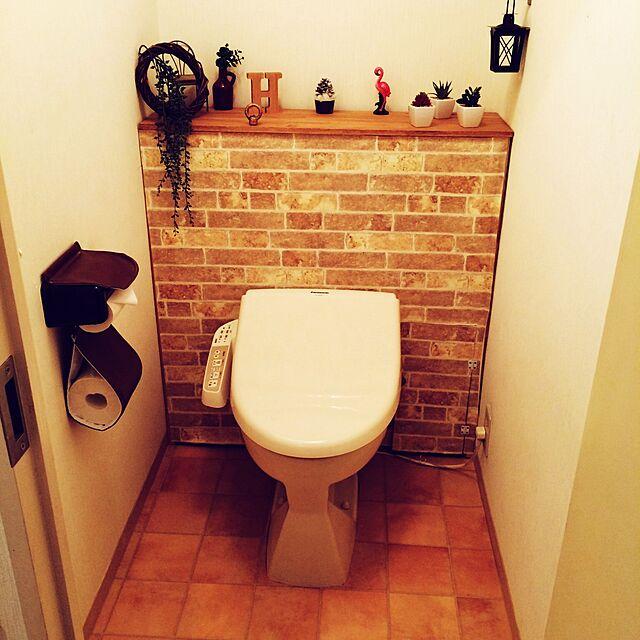 Bathroom,フラミンゴ大好き,壁紙屋本舗,壁紙本舗屋,DIY大好き♡,DIY,3coins,手作り大好き,セリア,コンテスト初参加 flamingo.holicの部屋
