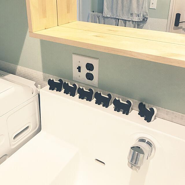 Bathroom,黒猫,メラミンスポンジ,セリア,100均 riechinの部屋
