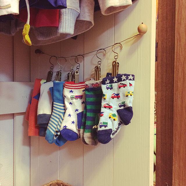 On Walls,クローゼット,収納,百均,靴下収納 akatukiyukiの部屋