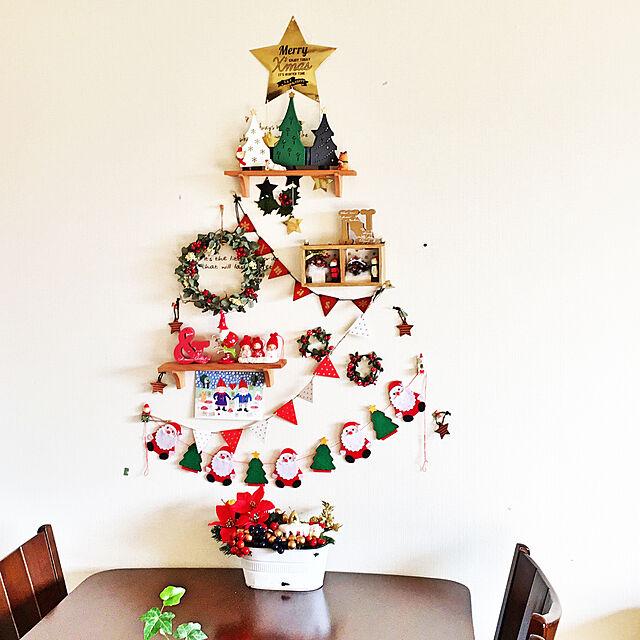 On Walls,壁面ディスプレイ,100均,セリア ウォールボックス,セリア ウォールシェルフ,デコレ コンコンブル,decole,フライングタイガー,ガーランド,セリア,クリスマスディスプレイ,クリスマスツリー,クリスマス,こどもと暮らす。,ウォールツリー,コンコンブル,デコレ tirolの部屋